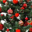 Christmas tree ornaments detail — 图库照片