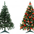 Before and after - Christmas tree — Stock Photo #12606481