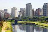 City and river - Sao Paulo, Brazil — Stock Photo