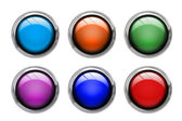 Colored buttons front view — Stock Photo