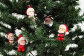 Mikołaje na sosny — Zdjęcie stockowe