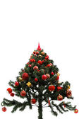 Christmas tree red top — Stock Photo