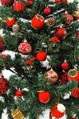Dettaglio decorazioni albero di Natale — Foto Stock