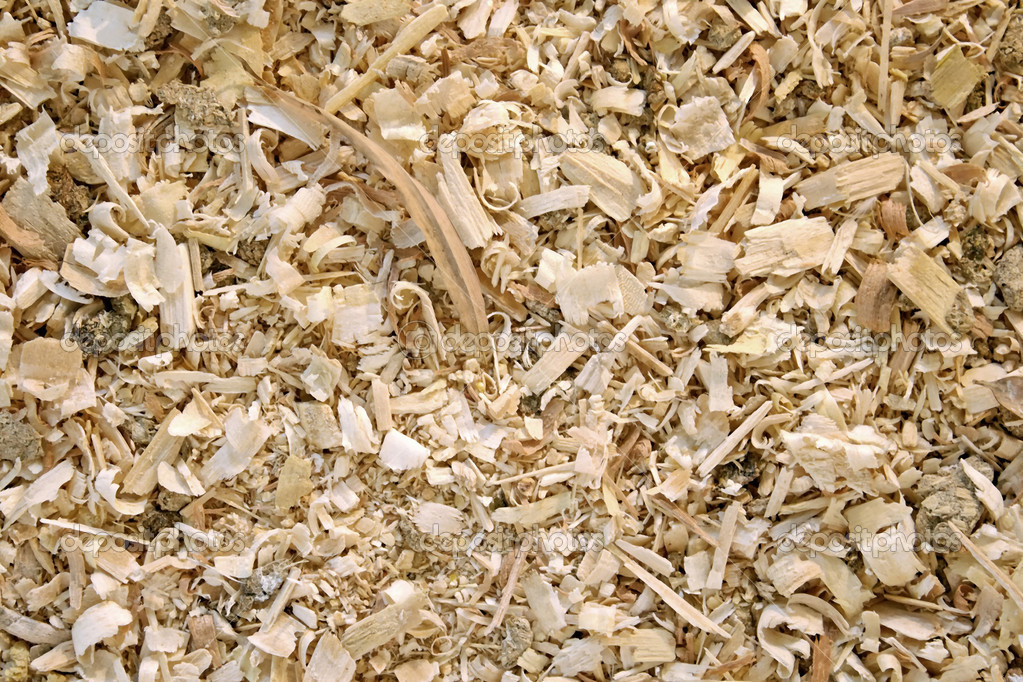 Sawdust animal bedding texture — stock photo lucato