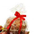 Panettone and ornaments — Stock Photo