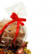 Stock Photo: Isolated panettone and ornaments