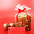 Christmas food - Panettone — Stock Photo