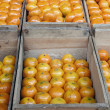 Stock Photo: Oranges and crates