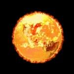 Earth - Global Warming (3D) — Stock Photo