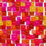 Bumped hearts (Seamless texture) — Stock Photo