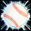 Baseball ball illustration — Stock Photo