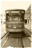 Antique trolley — Stock Photo