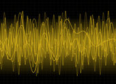 Amber sound waves — Stock Photo