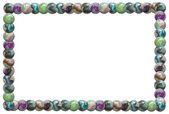 Marble balls frame — Stock Photo
