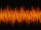 Sonido de olas gráfico ambar — Foto de Stock