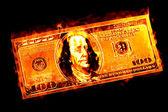 Money to burn sayings — Stock Photo