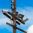 Stock Photo: Electrical posts