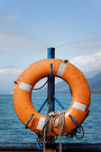 Hung Life buoy — Stock Photo