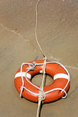 Life buoy with rope — Stock Photo