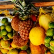 Stock Photo: Hung tropical fruits