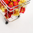 Stock Photo: Detail of shopping cart