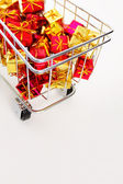 Detail of a shopping cart — Foto Stock