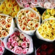 Mommy bouquets, colored roses - Top view — Stock Photo #13714589