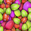Dotted and circled Easter eggs (Seamless texture) — Stock Photo #13735094