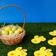 Stock Photo: Easter eggs hunt day