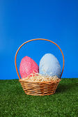 Easter eggs hunt — Stock fotografie