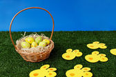 Easter eggs hunt day — Stock Photo