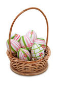 Easter eggs in a basket — Foto Stock