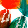 Detail of wrapped chocolate Easter Eggs — Stock Photo