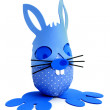 Blue Easter bunny egg — Stockfoto