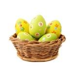 Wicker Easter basket — Stock Photo #13757543
