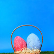 Easter eggs hunt - more sky — Stok Fotoğraf #13757756