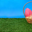 Easter eggs hunt from side — Stock Photo #13757766