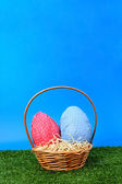 Easter eggs hunt - more sky — Stock fotografie