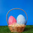 Stock Photo: Easter eggs hunt