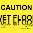 Royalty-Free Stock Photo: Caution wet floor a Text serie