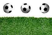 Soccer Balls and grass — Stock Photo