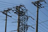 Energy distribution tower — Stock Photo