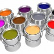 Colored inks (3D) - Stock Photo