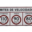 Speed limit highway sign — Stock Photo