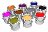 Colored inks (3D) — Stock Photo