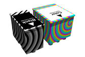 Black and color cartridges (3D) — Stock Photo