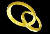Wedding rings (3D) — Stock Photo