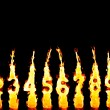 Burning candles 0-9 — Stock Photo