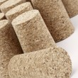 Aligned corks — Stock Photo