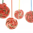 Stock Photo: Colored hung lollipops